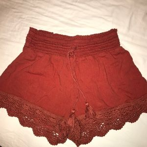 Frill high waisted shorts